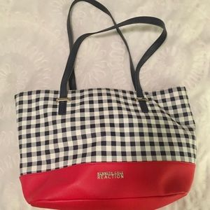Kenneth Cole Reaction Plaid Tote